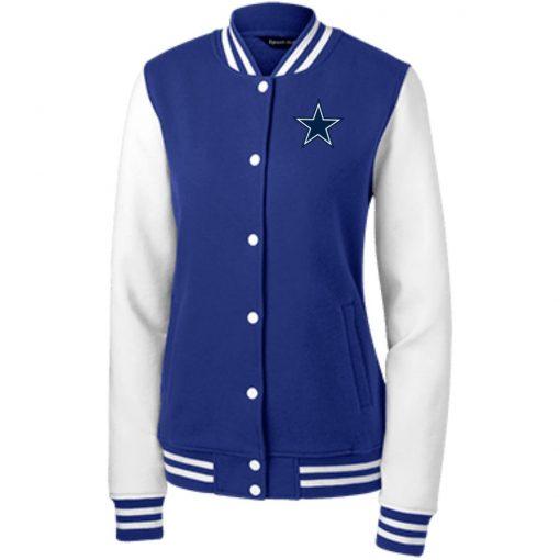 Private: Dallas Cowboys Women's Fleece Letterman Jacket