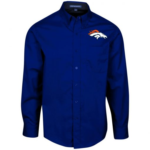 Private: Denver Broncos Men's LS Dress Shirt