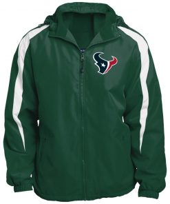 Private: Houston Texans Fleece Lined Colorblocked Hooded Jacket