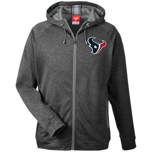 Private: Houston Texans Men's Heathered Performance Hooded Jacket