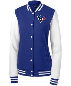 Private: Houston Texans Women's Fleece Letterman Jacket