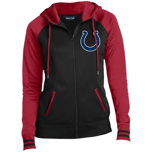 Private: Indianapolis Colts NFL Ladies' Moisture Wick Full-Zip Hooded Jacket