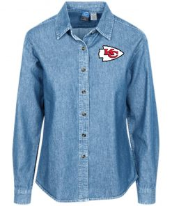 Private: Kansas City Chiefs Women's LS Denim Shirt