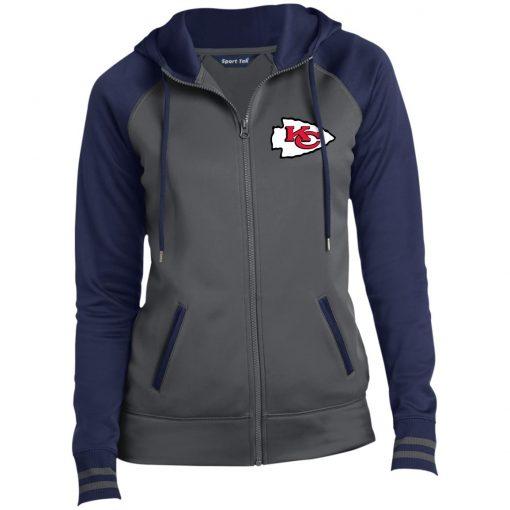 Private: Kansas City Chiefs Ladies' Moisture Wick Full-Zip Hooded Jacket