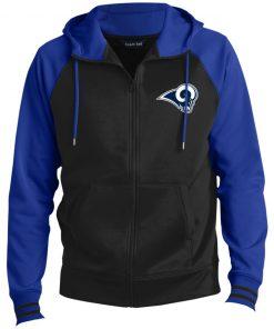 Private: Los Angeles Rams Men's Sport-Wick® Full-Zip Hooded Jacket