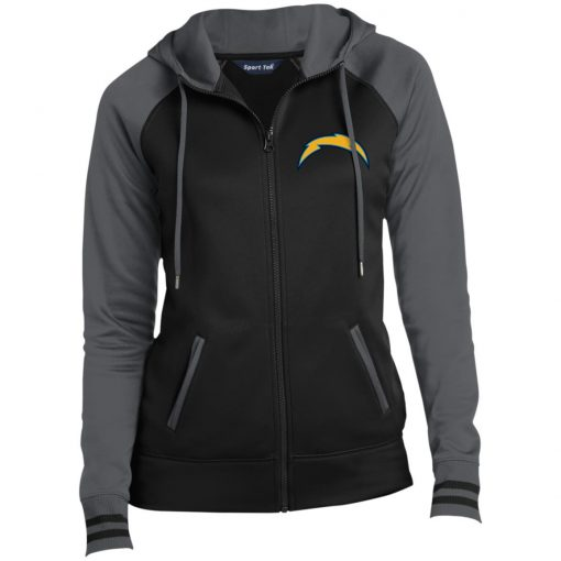 Private: Los Angeles Chargers Ladies' Moisture Wick Full-Zip Hooded Jacket