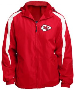 Private: Kansas City Chiefs Fleece Lined Colorblocked Hooded Jacket