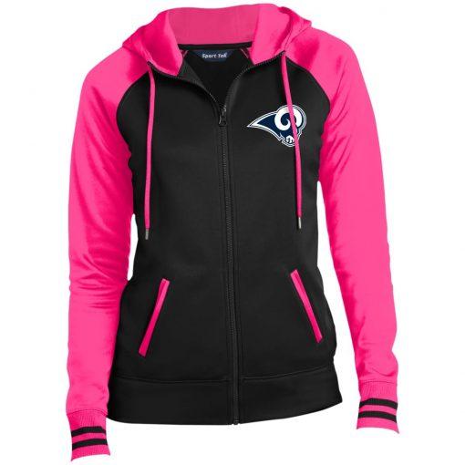 Private: Los Angeles Rams Ladies' Moisture Wick Full-Zip Hooded Jacket