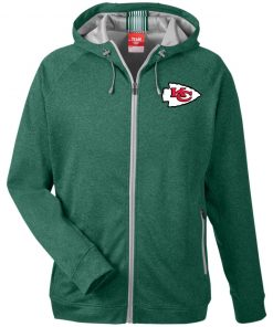 Private: Kansas City Chiefs Men's Heathered Performance Hooded Jacket