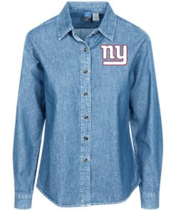Private: New York Giants Women's LS Denim Shirt