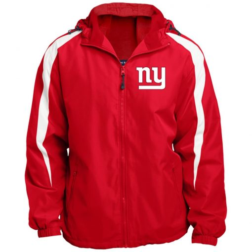 Private: New York Giants Fleece Lined Colorblocked Hooded Jacket