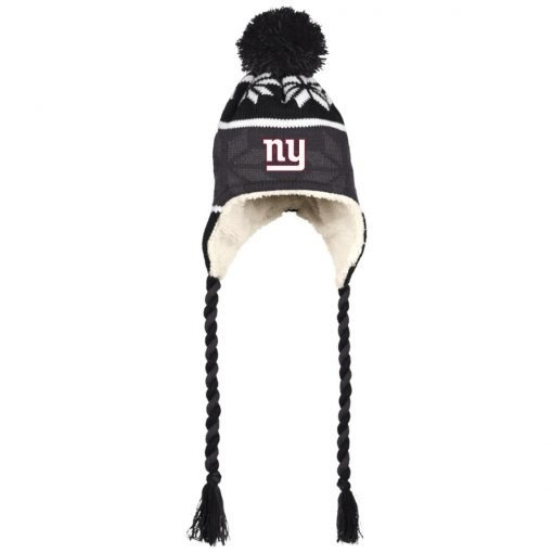 Private: New York Giants Hat with Ear Flaps and Braids