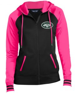 Private: New York Jets Ladies' Moisture Wick Full-Zip Hooded Jacket