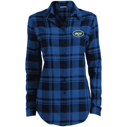 Private: New York Jets Ladies' Plaid Flannel Tunic