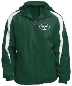 Private: New York Jets Fleece Lined Colorblocked Hooded Jacket