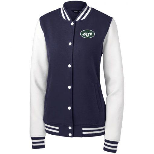 Private: New York Jets Women's Fleece Letterman Jacket