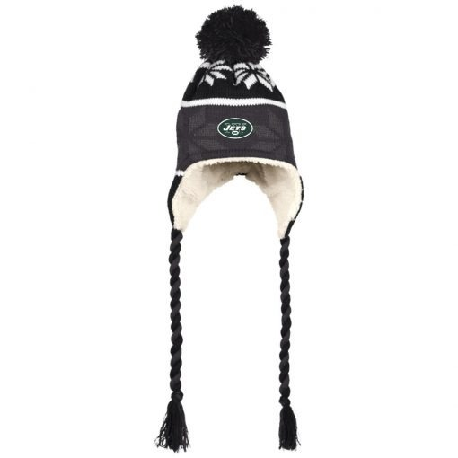 Private: New York Jets Hat with Ear Flaps and Braids