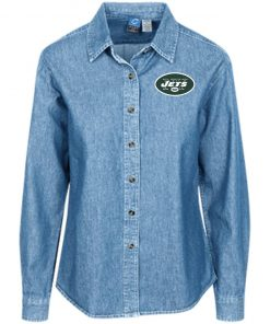 Private: New York Jets Women's LS Denim Shirt