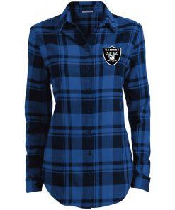 Private: Oakland Raiders Ladies' Plaid Flannel Tunic