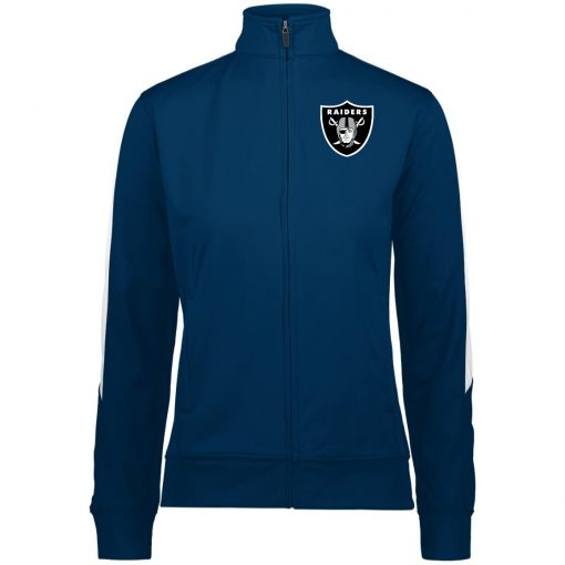 Private: Oakland Raiders Ladies' Performance Colorblock Full Zip