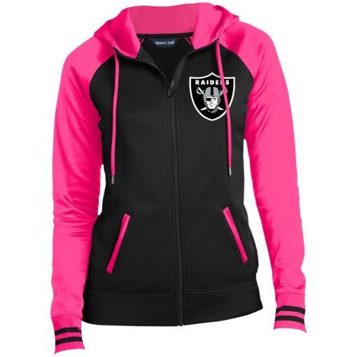 Private: Oakland Raiders Ladies' Moisture Wick Full-Zip Hooded Jacket
