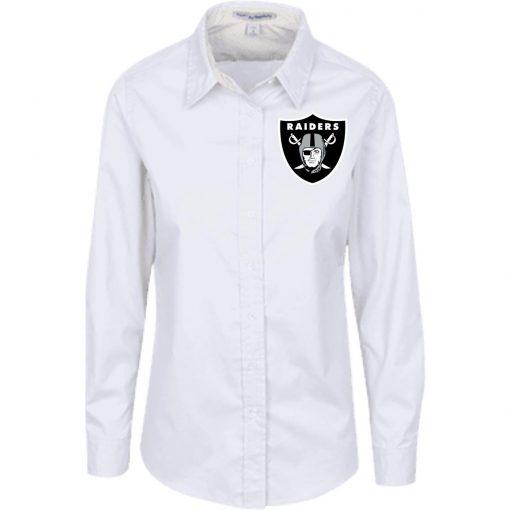 Private: Oakland Raiders Ladies' LS Blouse