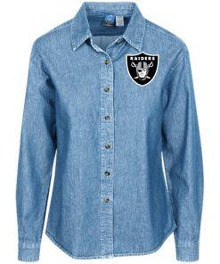 Private: Oakland Raiders Women's LS Denim Shirt