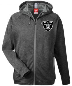 Private: Oakland Raiders Men's Heathered Performance Hooded Jacket