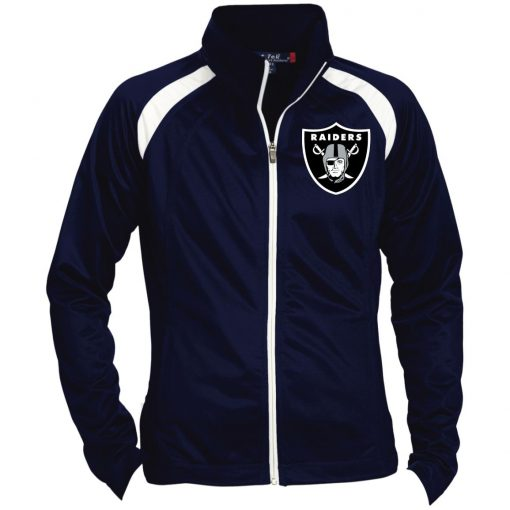 Private: Oakland Raiders Ladies' Raglan Sleeve Warmup Jacket