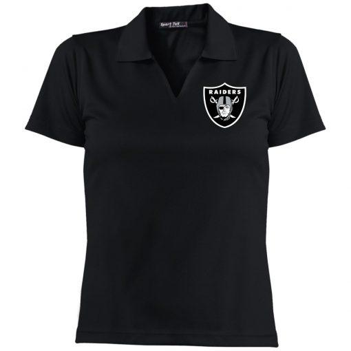 Private: Oakland Raiders Ladies' Dri-Mesh Short Sleeve Polo