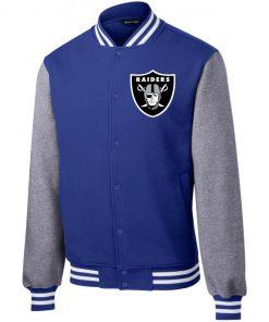Private: Oakland Raiders Fleece Letterman Jacket