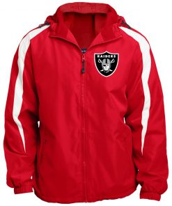 Private: Oakland Raiders Fleece Lined Colorblocked Hooded Jacket