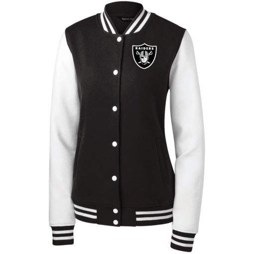 Private: Oakland Raiders Women's Fleece Letterman Jacket