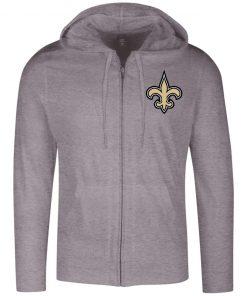 Private: Orleans Saints Lightweight Full Zip Hoodie