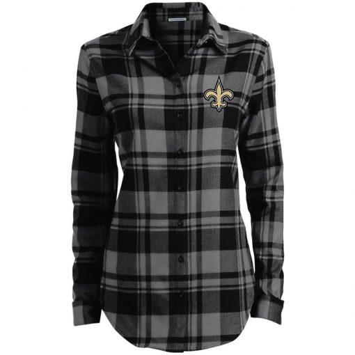 Private: Orleans Saints Ladies' Plaid Flannel Tunic