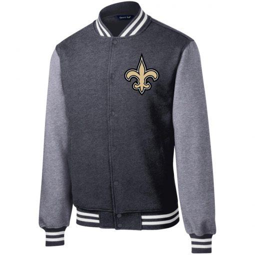 Private: Orleans Saints Fleece Letterman Jacket