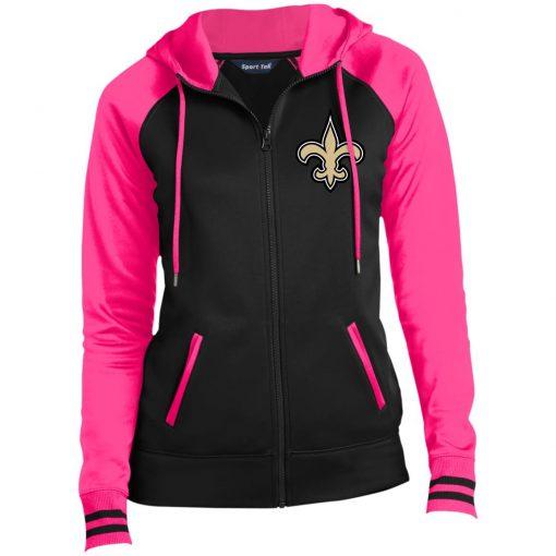 Private: Orleans Saints Ladies' Moisture Wick Full-Zip Hooded Jacket