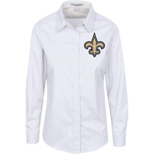 Private: Orleans Saints Ladies' LS Blouse