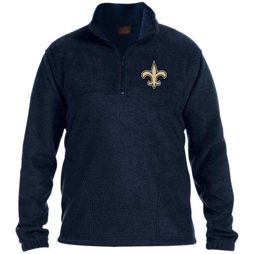Private: Orleans Saints 1/4 Zip Fleece Pullover