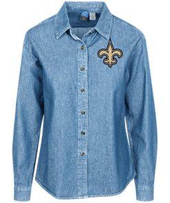 Private: Orleans Saints Women's LS Denim Shirt