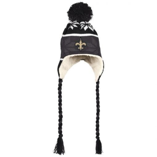 Private: Orleans Saints Hat with Ear Flaps and Braids
