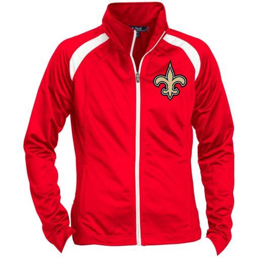 Private: Orleans Saints Ladies' Raglan Sleeve Warmup Jacket
