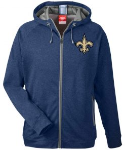 Private: Orleans Saints Men's Heathered Performance Hooded Jacket