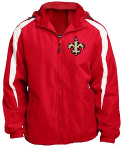 Private: Orleans Saints Fleece Lined Colorblocked Hooded Jacket