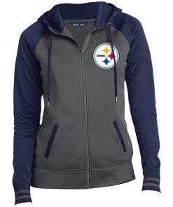 Private: Pittsburgh Steelers Ladies' Moisture Wick Full-Zip Hooded Jacket
