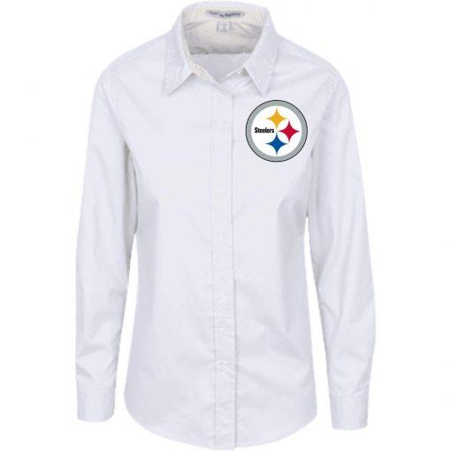 Private: Pittsburgh Steelers Ladies' LS Blouse