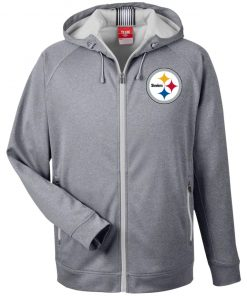 Private: Pittsburgh Steelers Men's Heathered Performance Hooded Jacket