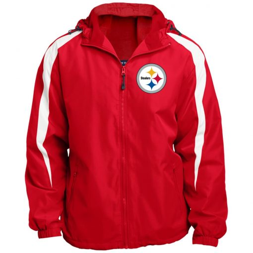 Private: Pittsburgh Steelers Fleece Lined Colorblocked Hooded Jacket