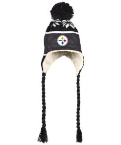 Private: Pittsburgh Steelers Hat with Ear Flaps and Braids