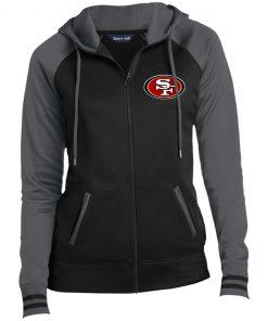 Private: San Francisco 49ers Ladies' Moisture Wick Full-Zip Hooded Jacket